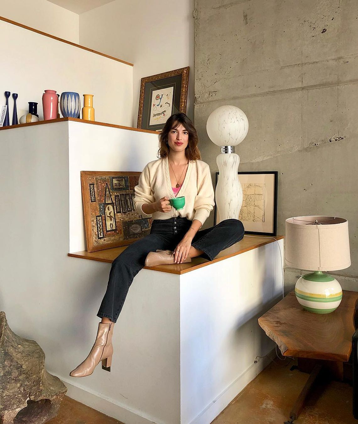 Jeanne Damas art déco maison home tour fashion mode french girls frenchy